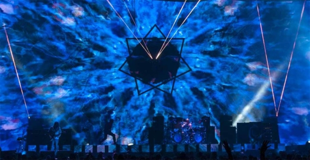 blue lighting for tool show